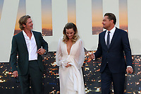 """LOS ANGELES - JUL 22:  Brad Pitt, Margot Robbie, Leonardo DiCaprio at the """"Once Upon a Time in Hollywood"""" Premiere at the TCL Chinese Theater IMAX on July 22, 2019 in Los Angeles, CA"""