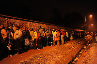 Voters in the Dandora neighborhood of Nairobi started queuing at James Gichuru Primary School in the pre-dawn hours on 4 March 3013. These are the first presidential, gubernatorial and senatorial elections under the new 2010 constitution. .JENNIFER HUXTA / AGENCE FRANCE PRESSE / GETTY IMAGES