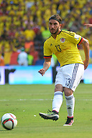 BARRANQUILLA - COLOMBIA -29-03-2016: Sebastian Perez jugador de Colombia en acción durante partido con Ecuador de la fecha 6 para la clasificación sudamericana a la Copa Mundial de la FIFA Rusia 2018 jugado en el estadio Metropolitano Roberto Melendez en Barranquilla./  Sebastian Perez (L) player of Colombia in action during the match against Ecuador of the date 6 for the qualifier to FIFA World Cup Russia 2018 played at Metropolitan stadium Roberto Melendez in Barranquilla. Photo: VizzorImage / Alfonso Cervantes / Cont