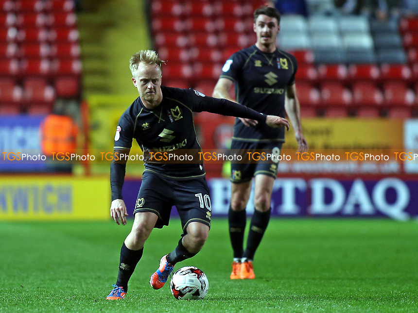 Ben Reeves of MK Dons in action during Charlton Athletic vs MK Dons, Sky Bet EFL League 1 Football at The Valley on 4th April 2017