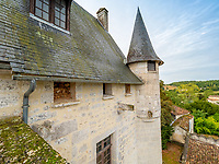 BNPS.co.uk (01202 558833)<br /> Pic: LeggettPrestige/BNPS<br /> <br /> PICTURED: The medieval chateau has stunning views<br /> <br /> Wealthy Brits have the perfect chance to escape to the chateau after a medieval castle with its own fortifications and coat of arms went on the market for £3.3million. (3.9m euros)<br /> Located in south west France, Chateau de Vouzan comes with an enormous 23 hectares of land which can be looked out upon from its turreted watchtowers.<br /> The 15th century chateau, in Angouleme, Charente, has been granted 'protected historic monument' status by the French government.