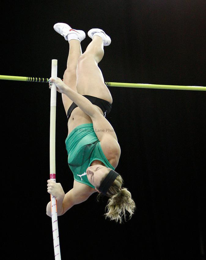 Photo: Richard Lane/Richard Lane Photography. Aviva Grand Prix. 20/02/2010. Czech Republic's Jirina Ptacnikova in the women's pole vault.