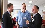 ZANDVOORT - GOLF -Arijan van Alphen (m) en Michiel Wimmers (Bayer). DTRF (Dutch Turfgrass Research Foundation)  congres. COPYRIGHT KOEN SUYK