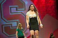 INDIANAPOLIS, IN - APRIL 1, 2011: Grace Mashore enjoys the festivities at the Cirque du Salute at the Indianapolis Convention Center at Tourney Town during the NCAA Final Four in Indianapolis, IN on April 1, 2011.