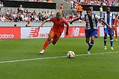 01.08.2015. Cologne, Germany. Pre Season Tournament. Colonia Cup. Valencia CF versus FC Porto.  Second half attack from Valencia, as Sofiane Feghouli beats his marker down the right.