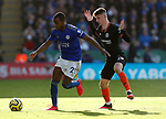 Ricardo Pereira of Leicester City holds off Mason Mount of Chelsea during the Premier League match at the King Power Stadium, Leicester. Picture date: 1st February 2020. Picture credit should read: Darren Staples/Sportimage