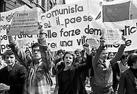 - Milano, manifestazione del Partito Comunista per la ricorrenza del  Primo Maggio, festa dei lavoratori (1 maggio 1976)<br /> <br /> - Milan, demonstration of Communist Party for May Day, the Labour Day (May 1976)