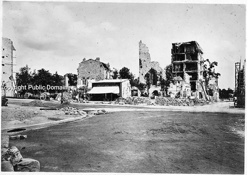 Place de la Bastille, Burned<br /> <br /> Published 1871