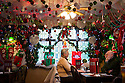 04/12/14<br /> <br /> The main downstairs dining room.<br /> <br /> The Hanging Gate pub in Chapel en le Frith, in the Derbyshire Peak District claims to have the largest display  of Christmas decorations inside its bar and restaurants. <br /> <br /> Full story here: http://www.fstoppress.com/articles/christmas-pub/<br /> <br /> ***ANY UK EDITORIAL PRINT USE WILL ATTRACT A MINIMUM FEE OF £130. THIS IS STRICTLY A MINIMUM. USUAL SPACE-RATES WILL APPLY TO IMAGES THAT WOULD NORMALLY ATTRACT A HIGHER FEE . PRICE FOR WEB USE WILL BE NEGOTIATED SEPARATELY***<br /> <br /> <br /> All Rights Reserved - F Stop Press. www.fstoppress.com. Tel: +44 (0)1335 300098