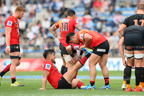 (L-R) Shota Horie, Takuma Asahara (Sunwolves), <br /> APRIL 23, 2016 - Rugby : <br /> Super Rugby match between Sunwolves 36-28 Jaguares <br /> at Prince Chichibu Memorial Stadium in Tokyo, Japan. <br /> (Photo by Yohei Osada/AFLO SPORT)