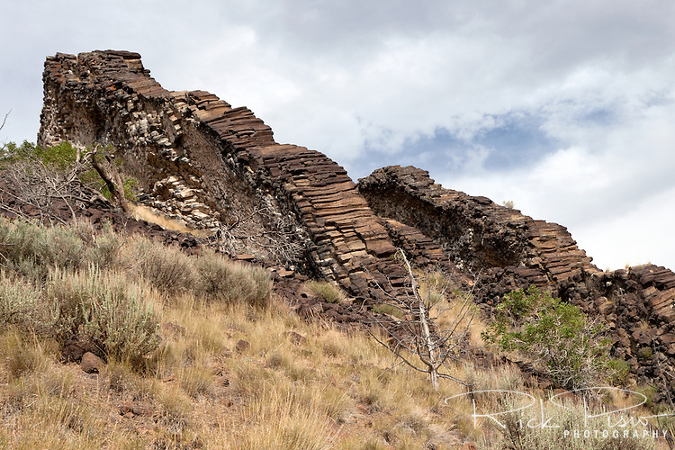 Paul Bunyan's Woodpile in Utah's Juab County is a cluster of lava logs that are remnants of activity related to a large stratovolcano that was active about 30 million years ago during the Eocene Period.