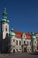 In southern Poland, a quaint town with medeival architecture and large city park greets visitors.