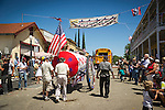 Independence Day celebration Main Street, Mokelumne Hill, California