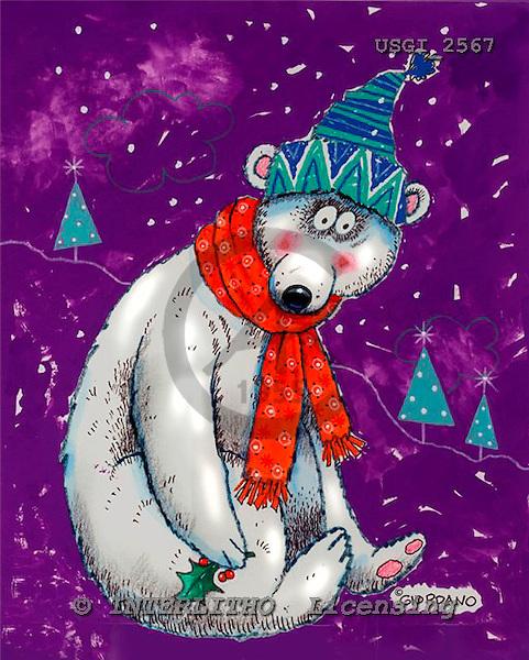 GIORDANO, CHRISTMAS ANIMALS, WEIHNACHTEN TIERE, NAVIDAD ANIMALES, paintings+++++,USGI2567,#XA#,icebear