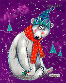 GIORDANO, CHRISTMAS ANIMALS, WEIHNACHTEN TIERE, NAVIDAD ANIMALES, paintings+++++,USGI2567,#XA#,icebear