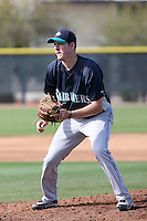 Brandon Maurer #4 of the Seattle Mariners participates in spring training workouts the Mariners minor league complex on March 12, 2011  in Peoria, Arizona. .Photo by:  Bill Mitchell/Four Seam Images.