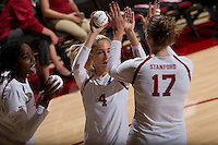 Stanford, Calif. September 11, 2016: Stanford Women's Volleyball vs. Cal Poly San Luis Obispo.