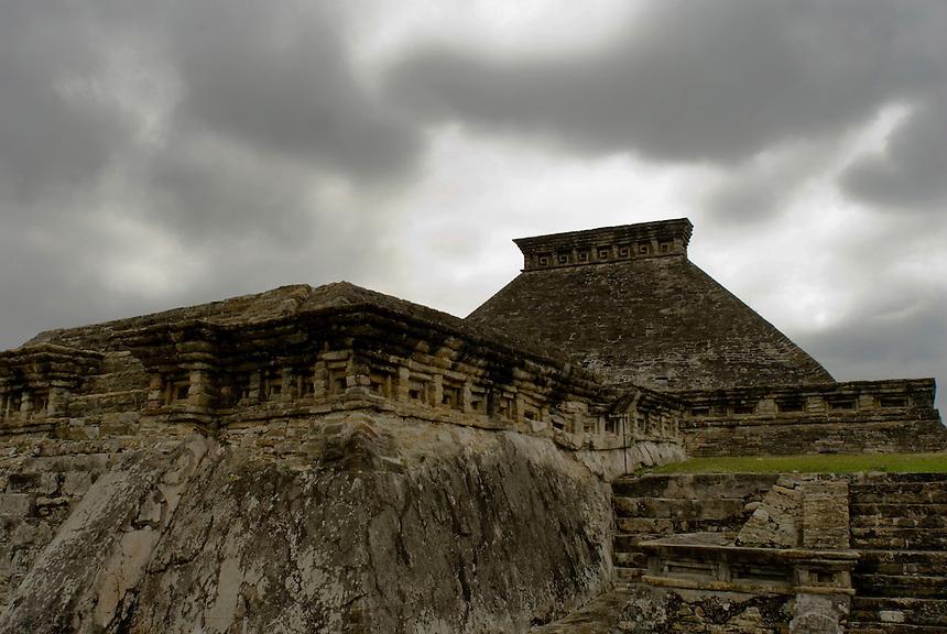 El Tajin, Totonaca arqueological site.  Veracruz, Mexico. April 6, 2008