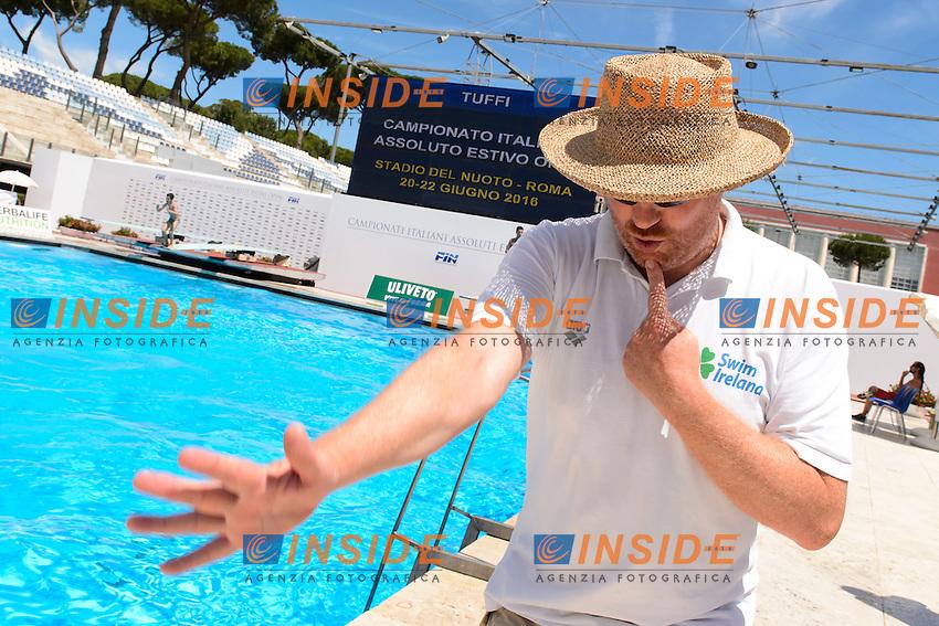 Damien Ball Coach Team Ireland <br /> Roma 21-06-2016 Stadio del Nuoto Foro Italico Tuffi Campionati Italiani <br /> Foto Andrea Staccioli Insidefoto