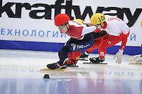 "SHORT TRACK: MOSCOW: Speed Skating Centre ""Krylatskoe"", 15-03-2015, ISU World Short Track Speed Skating Championships 2015, Quarterfinals 1000m Men, Semen Elistratov (#152 