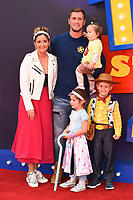 """Jaqueline Jossa and Dan Osbourne<br /> arriving for the """"Toy Story 4"""" premiere at the Odeon Luxe, Leicester Square, London<br /> <br /> ©Ash Knotek  D3509  16/06/2019"""