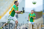 John Sugrue, Aidan O'Sullivan South Kerry and Shane McSwweeney Kilcummin go up for a ball in the Quarter finals of the Kerry Senior County Championship on Sunday at Fitxgerald Stadium, Killarney.