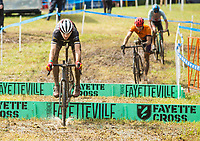 NWA Democrat-Gazette/BEN GOFF @NWABENGOFF<br /> Racers compete in the UCI Junior Men event Sunday, Oct. 6, 2019, during the the Fayettecross cyclocross races at Centennial Park at Millsap Mountain in Fayetteville.