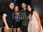 Robbie Farrelly celebrating his 30th birthday in Brú with girlfriend Nicky Doyle and friends Stephen and Celine Byrne. Photo:Colin Bell/pressphotos.ie