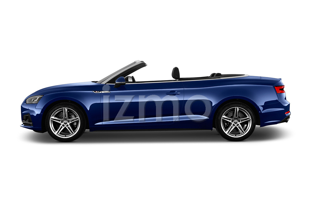 Car Driver side profile view of a 2017 Audi A5 Sport 2 Door Convertible Side View