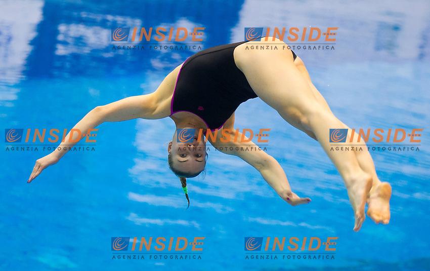 Olena Fedorova UKR<br /> 1m Springboard Women preliminary<br /> Day 04 12/06/2015  <br /> 2015 Arena European Diving Championships<br /> Neptun Schwimmhalle<br /> Rostock Germany 09-14 June 2015 <br /> Photo Giorgio Perottino/Deepbluemedia/Insidefoto