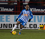 6th February 2019, Dens Park, Dundee, Scotland; Ladbrokes Premiership football, Dundee versus Kilmarnock; Youssouf Mulumbu of Kilmarnock
