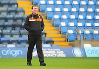 Blackpool manager Gary Bowyer during the pre-match warm-up <br /> <br /> Photographer Kevin Barnes/CameraSport<br /> <br /> The EFL Sky Bet League Two - Wycombe Wanderers v Blackpool - Saturday 11th March 2017 - Adams Park - Wycombe<br /> <br /> World Copyright &copy; 2017 CameraSport. All rights reserved. 43 Linden Ave. Countesthorpe. Leicester. England. LE8 5PG - Tel: +44 (0) 116 277 4147 - admin@camerasport.com - www.camerasport.com