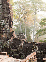 The Bayon temple at Angkor, Siem Reap Province, Cambodia