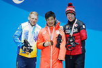 Yoshihiro Nitta (JPN),<br /> MARCH 17, 2018 - Cross-Country Skiing : Men's 10km Classic  StandingMedal Ceremony  <br /> at PyeongChang Medal Plaza <br /> during the PyeongChang 2018 Paralympics Winter Games in Pyeongchang, South Korea. <br /> (Photo by Yusuke Nakanishi/AFLO SPORT)
