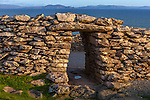 County Kerry, Ireland:<br /> Dunbeg Fort an iron age structure on Dingle Bay in evening light
