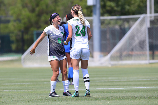 DENTON TEXAS: University of North Texas Mean Green Women's Soccer v Houston Baptist on September 3, 2017 at Mean Green Village Soccer Field in Denton TX. (Photo Rick Yeatts)