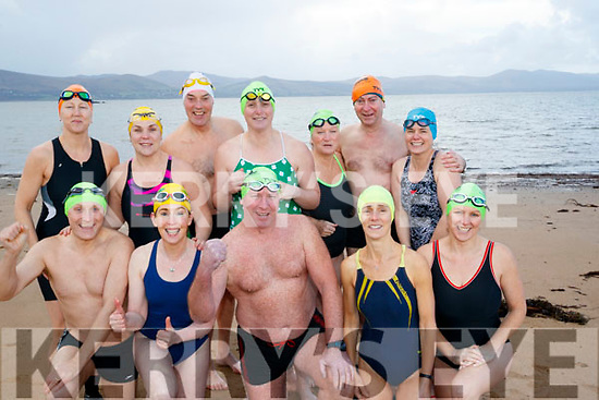 Swimmers who completed the 12 swims of Christmas, pictured on Friday last were front l-r: Noel Ryan, Mags O'Sullivan, Kevin Williams, Mary Fitzsimons and Bridget Moore. Back l-r: Niamh Murphy, Elaine Burrows Dillane, Bob Fitzsimons, Rosie Foley, Rose Collins, Jerry Gallagher and Helena Creagh.