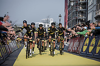 Team Direct Energie rolling through.. <br /> <br /> 103rd Ronde van Vlaanderen 2019<br /> One day race from Antwerp to Oudenaarde (BEL/270km)<br /> <br /> ©kramon