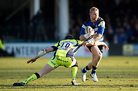 Tom Homer of Bath Rugby takes on the Sale Sharks defence. Aviva Premiership match, between Bath Rugby and Sale Sharks on February 24, 2018 at the Recreation Ground in Bath, England. Photo by: Patrick Khachfe / Onside Images