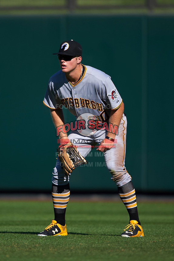 Glendale Desert Dogs outfielder Austin Meadows (30) during an Arizona Fall League game against the Surprise Saguaros on October 23, 2015 at Salt River Fields at Talking Stick in Scottsdale, Arizona.  Glendale defeated Surprise 9-6.  (Mike Janes/Four Seam Images)