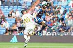 Real Madrid's James Rodriguez (l) and Levante UD's Sergio Postigo during La Liga match. September 14,2019. (ALTERPHOTOS/Acero)