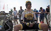 Bram Tankink (NLD/LottoNL-Jumbo) in The Zone minutes before kicking of his 2015 Tour<br /> <br /> stage 1 prologue: Utrecht (13.8km)<br /> Tour de France 2015