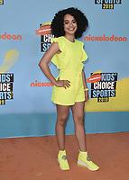 SANTA MONICA, CA - JULY 11: Gabby Nevea Green at Nickelodeon's Kids' Choice Sport 2019 at the Barker Hangar on July 11, 2019 in Santa Monica, California. (Photo by Scott KirklandPictureGroup)