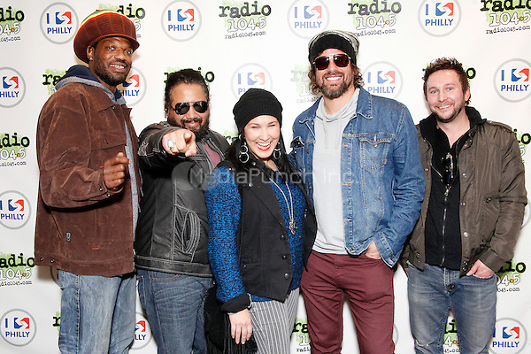 BALA CYNWYD, PA - NOVEMBER 14 :  Rusted Root  visit Radio 104.5 performance Theater in Bala Cynwyd, Pa on November 14, 2013  © Star Shooter / MediaPunch Inc