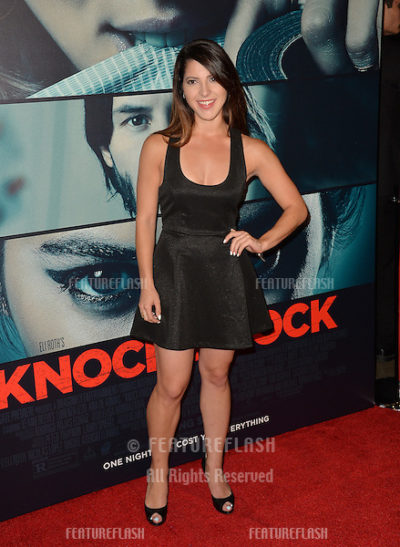 Ashley Arpel at the Los Angeles premiere of  &quot;Knock Knock&quot; at the TCL Chinese Theatre, Hollywood.<br /> October 7, 2015  Los Angeles, CA<br /> Picture: Paul Smith / Featureflash