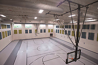 NWA Democrat-Gazette/BEN GOFF @NWABENGOFF<br /> A view of a basketball gym Friday, Aug. 11, 2017, during a grand opening for Osage Creek Elementary School and Creekside Middle School in Bentonville. The new schools will welcome their first students Monday.
