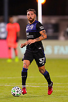 10th July 2020, Orlando, Florida, USA;  San Jose Earthquakes defender Guram Kashia (37) controls the ball during the soccer match between the Seattle Sounders and the San Jose Earthquakes on July 10, 2020, at ESPN Wide World of Sports Complex in Orlando, FL.