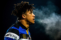 Anthony Watson of Bath Rugby looks on during a break in play. Aviva Premiership match, between Worcester Warriors and Bath Rugby on January 5, 2018 at Sixways Stadium in Worcester, England. Photo by: Rogan Thomson / JMP