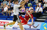11 JUN 2010 - LONDON, GBR - Great Britain's Chris McDermott shoots during the teams 2012 European Handball Championships Qualification Tournament match against Estonia .(PHOTO (C) NIGEL FARROW)