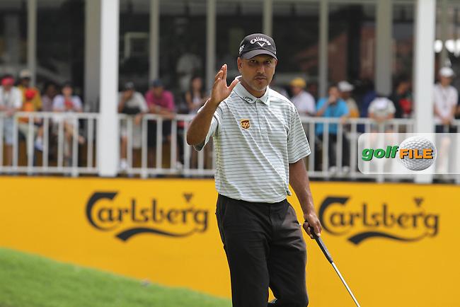 Hennie Otto (RSA) on the 18th on the Final Day of the Maybank Malaysian Open 2012 at Kuala Lumpur Golf and Country Club, Kuala Lumpur, Malaysia...(Photo Jenny Matthews/www.golffile.ie)